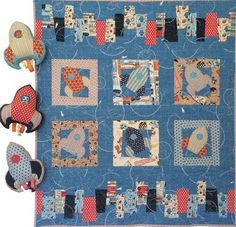 """Blast Off"" designed by Clare Horsman for Clare's Place."