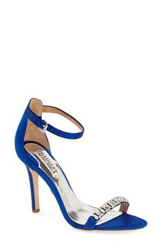 Badgley Mischka 'Elope' Crystal Embellished Sandal (Women) available at #Nordstrom