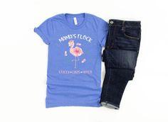 Mama Flamingo Shirt/ Cute Flamingo Gift/ Mama's Flock/ | Etsy Flamingo Shirt, Flamingo Gifts, Personalized Birthday Shirts, Cute Snowman, Proud Mom, T Shirt Photo, Fishing Shirts, Shirt Price, Retail Therapy