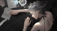 A fantasy girl sleeping with emails in light digital art by wlop Ice Princess, Little Princess, Fantasy Girl, Weiblicher Elf, Pointed Ears, Poses, Fantasy Artwork, Online Art Gallery, Digital Art