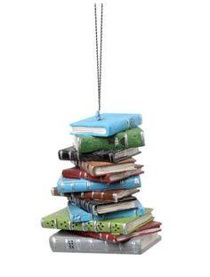 Cute Books Christmas tree ornaments!