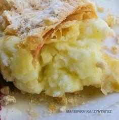 ΜΑΓΕΙΡΙΚΗ ΚΑΙ ΣΥΝΤΑΓΕΣ: Μιλφέιγ με απίθανη κρέμα!!! Mashed Potatoes, Cauliflower, Lemon, Sweets, Vegetables, Ethnic Recipes, Desserts, Food, Whipped Potatoes