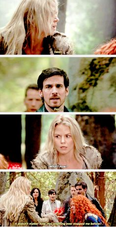 """""""It doesn't matter how. Has anything ever stopped me before?"""" - Killian, Emma and Merida #OnceUponATime"""
