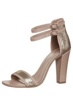 High Heel Sandalette Zign Gold & Beige...I love (& own) them! Comfortable and stylish Heelis!