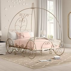 Bed Crown Canopy, Twin Canopy Bed, Girl Bedroom Designs, Master Bedroom Design, Home Room Design, Bed Design, Dream Rooms, Bed Sizes, Kid Beds