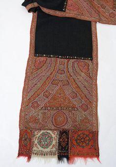 Vintage Textile: #4073 chal de Cashimir bordado de 1810