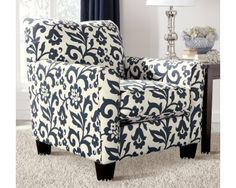 Contemporary Accent Chair In Blue   Sam Levitz Furniture