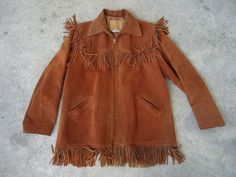 Vintage Webers Deerskin Fringed Suede Mens Leather Hippie Jacket in Clothing, Shoes & Accessories | eBay