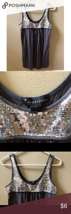 Forever 21 Sequins Tank Forever 21 Tank Size L. Looks great with a pair of skinny jeans. Like new condition. Forever 21 Tops Tank Tops