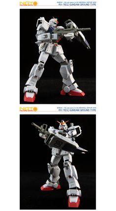 HG Gundam Ground Type - Customized Build Modeled by NGT Factory Japan Ground Type, Gundam Model, Mobile Suit, Rey, Robot, Hguc, Joker, Darth Vader, Japan