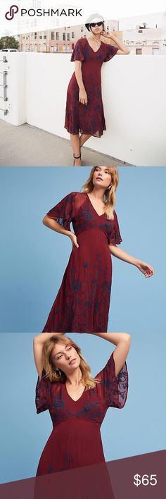Maeve Francoise Embroidered Dress New with tags. When I bought this dress some of the embroidery had little string wisps, but I cut them off and it's impossible to tell. With any embroidery wisps are a natural occurrence. Anthropologie Dresses Midi