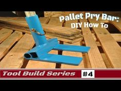 How To: Pallet Pry Bar for removing pallet boards for DIY projects - YouTube