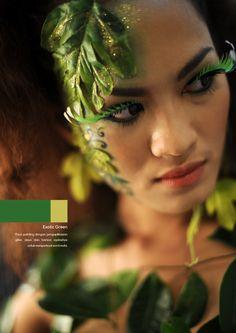 Exotic Green #makeup #conceptual #beauty