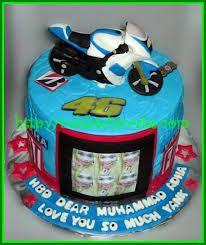 Afbeeldingsresultaat voor cake valentino rossi Bike Cakes, Valentino Rossi, Birthday Cake, Desserts, Food, Tailgate Desserts, Deserts, Birthday Cakes, Essen