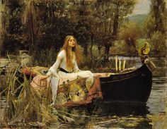 John William Waterhouse >> La Dama de Shalott she looks so at peace