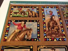 Moda Fabric King of the Ranch Panel Brown 11210-14 by patitaylor