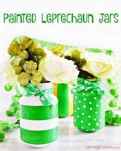 Painted Leprechaun Jars