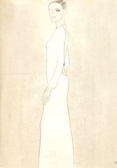 Mats Gustafson illustration of Gucci dress