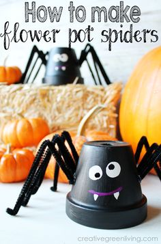 Make a fun Halloween spider craft with a flower pot, pipe cleaners and paint. This spider is so cute and perfect for making with kids or by yourself! halloween crafts for kids Halloween Clay, Halloween Flowers, Halloween Crafts For Kids, Halloween Spider, Halloween Projects, Cute Halloween, Holidays Halloween, Holiday Crafts, Halloween Decorations