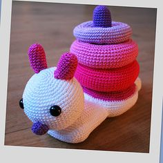 Stack toy for kids, also available in green/blue.