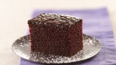 This decadent dessert gets a little kick from coffee, which naturally enhances the cake's rich, chocolate flavor.
