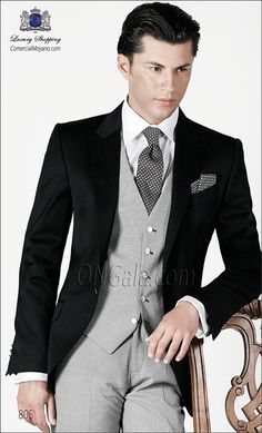 Traje de novio negro 805 ONGala wedding suit