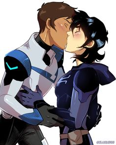Lance: Well well well, look who came back. Couldn't stand to stay away any longer from me? Keith: I actually came back for the team, but mostly you. I missed you Lance. Lance: I, uh..... Keith: Just shut up and kiss me. Lance: *Pulls Keith closer and smashes his lips on Keith's* Keith: *does the same thing to Lance*