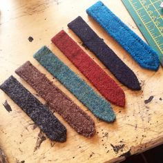 Grey, Brown, Green, Red, Dark and Light Blue Harris Tweed straps are perfect for your autumn attire. www.echarles.co.uk sales@echarles.co.uk