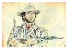 Clint Eastwood Illustration (Print)