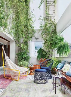 Light and airy patio.