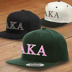 Alpha Kappa Alpha Classic Snapback Cap $17.95 #Greek #Sorority #Clothing #AKA #AlphaKappaAlpha #Hat