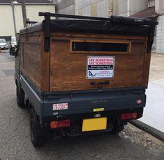 Food Cart Design, Food Truck Design, Custom Trucks, Custom Cars, Ramen House, Mini Trucks, Tonka Trucks, Suzuki Carry, Small Coffee Shop