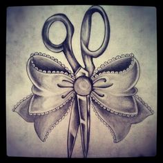 Cosmetologist tattoo I'm getting once I graduate!!! The bow will be cheetah print and the scissors pink=D