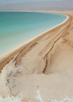 DJIBOUTI Coastal til the end... Lake Assal, Djibouti, Africa, photograph by George Steinmetz, National Geographic