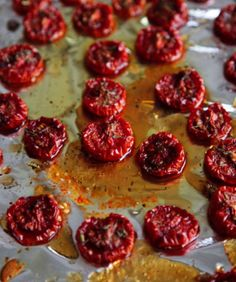 Maple syrup intensifies the sweetness of tomatoes in this recipe for Tomate Confite au Sirop d'Érable. Serve these with toothpicks as an appetizer or on salads, pizza, and pastas.See Recipe »