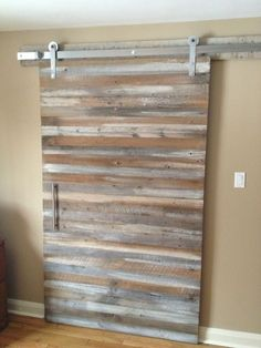Modern barn doors are stunning interior access with its sliding concept. It's a large door inspired with the barn door style. Here are awesome door styles that might bring new inspiration for you. Door Design, Wood Doors, Barn Door Handles, Interior Sliding Barn Doors, Loft Door, Doors Interior, Diy Door, Wood Doors Interior, Sliding Doors