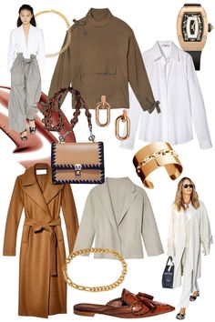 50s: Pair easy neutrals with chunky gold accents.  - HarpersBAZAAR.com