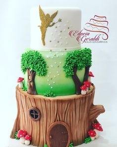 Festa Thinker Bell, Tinker Bell, Snow Globes, Cake Recipes, Birthday Cake, Birthday Cakes, Personalized Cakes, Faeries, Everything