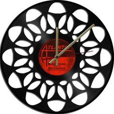 Psychedelic Theme Vinyl Record clock