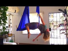 Aerial Yoga Tutorial #1! - YouTube hoping to learn this