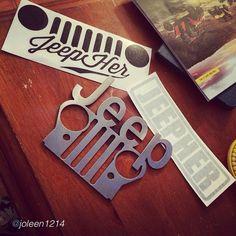 "by @joleen1214 ""Tytytyty to @jeepher @metal_art_of_wisconsin for my #jeep#goodies #jeepher#jeepgirl#itsajeepthing#lovethem #love #specialedition#sticker"" #Padgram"