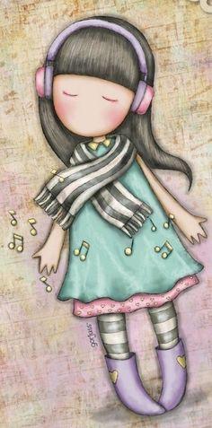 Santoro London, Cute Art, Girl Power, Pencil Drawings, Colored Pencils, Little Girls, Shabby, Scrapbooking, Pastel