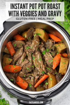 Everything that a tender, hearty, pot roast should be. this is sure to be your new go-to Instant Pot Pot Roast Recipe! Best Instant Pot Recipe, Instant Pot Dinner Recipes, Instant Pot Pressure Cooker, Pressure Cooker Recipes, Pressure Cooking, Slow Cooker, Pot Roast Recipes, Cooking Recipes, Entree Recipes