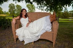 Country Wedding Bridal Picture
