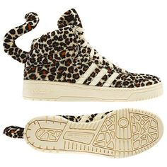 Jeremy Scott for Adidas leopard shoes