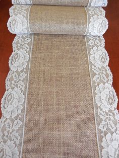 Burlap table runner wedding table runner rustic por DaniellesCorner