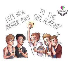 Liam's like 'omg harry why!' Niall's like 'mmmm toast'