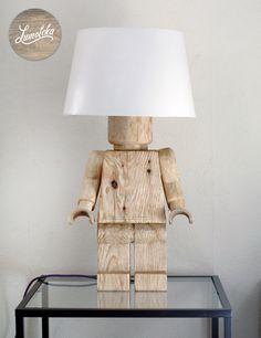 Wooden Lego Table Lamp by Lumoteka on Etsy https://www.etsy.com/listing/228072736/wooden-lego-table-lamp