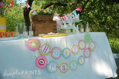 Cute spring Easter themed party