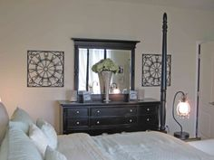 Master Bedroom decor ideas. Like the orchids....Love orchid makes ...